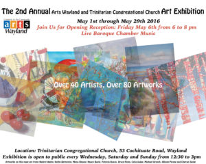 Art Exhibit Opening Reception @ Trinitarian Congregational Church | Wayland | Massachusetts | United States