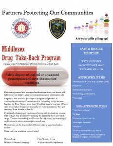 Drug Take-Back Day @ Wayland Public Safety Building