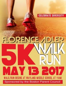 Florence Adler 5k Walk/Run @ Wayland Middle School | Wayland | Massachusetts | United States