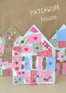 Outdoor Kids Craft: Patchwork Houses @ Wayland Library